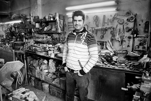 photograph of Armenian craftsperson